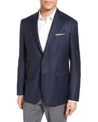 John W. Nordstrom | Blue John W. Nordstrom Classic Fit Check Wool Sport Coat for Men | Lyst