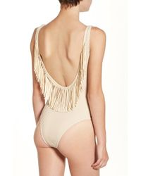 Rip Curl | Natural 'joyride' Fringe One-piece Swimsuit | Lyst