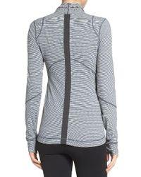 Zella | Gray Reflective Run Jacket | Lyst