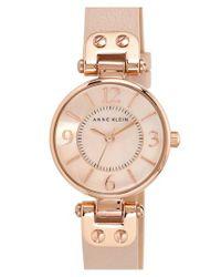 Anne Klein - Pink Hinge Case Watch - Lyst