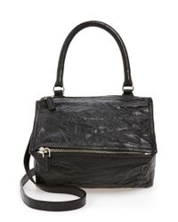 Givenchy   Black 'small Pepe Pandora' Leather Shoulder Bag   Lyst