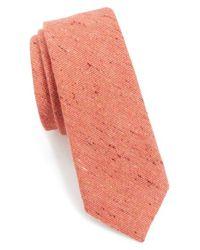 Alexander Olch - Orange 'the Crisp' Cotton Melange Tie for Men - Lyst