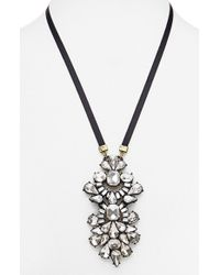 BaubleBar | Black 'bijoux' Pendant Necklace | Lyst