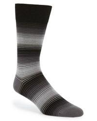 Bugatchi | Gray Stripe Socks for Men | Lyst