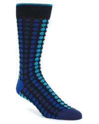 Bugatchi - Blue Dot Socks for Men - Lyst