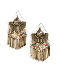 Panacea - Metallic Fringe Drop Earrings - Lyst