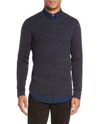 Vince - Gray Crewneck Cotton Blend Sweater for Men - Lyst