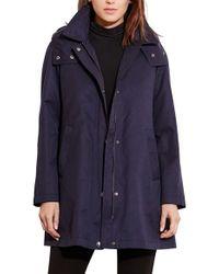 Lauren by Ralph Lauren | Blue A-line Jacket With Removable Liner | Lyst