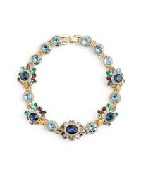 Marchesa - Blue Jewel Bracelet - Lyst