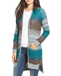 Billabong | Blue 'stripes Over You' Cardigan | Lyst