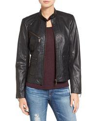Bernardo | Black Kirwin Leather Jacket | Lyst