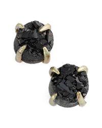 Treasure & Bond | Black Drusy Stud Earrings | Lyst