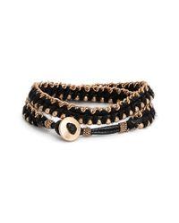 Treasure & Bond | Black Beaded Wrap Bracelet | Lyst