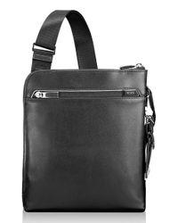 Tumi   Black 'arrive - Owen' Leather Crossbody Bag for Men   Lyst