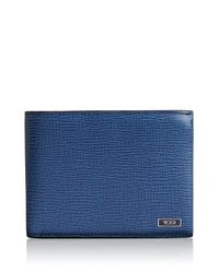Tumi | Blue 'monaco' Global Leather Wallet With Coin Pocket for Men | Lyst