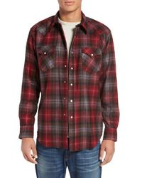 Pendleton - Red 'canyon' Plaid Flannel Western Shirt for Men - Lyst