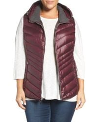 Andrew Marc - Multicolor Hooded Down Vest - Lyst