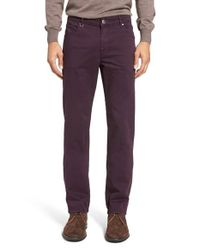 Bugatchi | Purple Slim Fit Five-pocket Pants for Men | Lyst