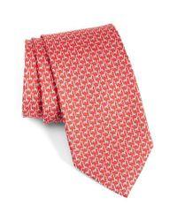 Ferragamo | Red Giraffe Print Silk Tie for Men | Lyst