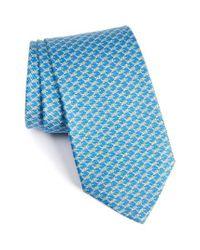 Ferragamo   Blue Turtle Print Silk Tie for Men   Lyst