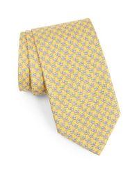 Ferragamo | Yellow Dog Print Silk Tie for Men | Lyst
