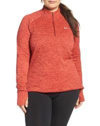 Nike | Orange Therma Sphere Element Quarter-zip Pullover | Lyst
