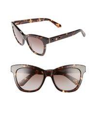 kate spade new york   Black 'krissy' 52mm Cat Eye Sunglasses - Havana   Lyst