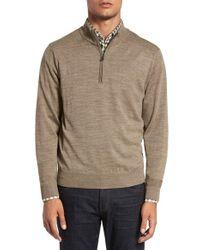 Cutter & Buck | Multicolor 'douglas' Quarter Zip Wool Blend Sweater for Men | Lyst