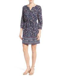 Caslon | Blue Caslon Print Blouson Dress | Lyst