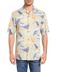 12154247 Lyst - Tommy Bahama 'tropical Lilies' Regular Fit Silk Camp Shirt ...