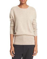VINCE | Natural Split Back Cashmere Sweater | Lyst