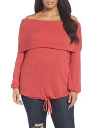 Caslon | Red Caslon Off The Shoulder Sweater | Lyst