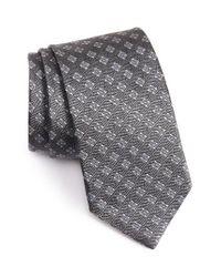 David Donahue | Gray Geometric Silk Tie for Men | Lyst