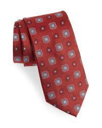 Nordstrom - Red Medallion Silk Tie for Men - Lyst