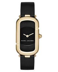 Marc Jacobs | Black 'the Jacobs' Leather Strap Watch | Lyst