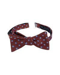 Ted Baker - Orange Dot Silk Bow Tie for Men - Lyst