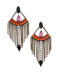 Lionette | Pink Swarovski Crystal Chandelier Earrings | Lyst