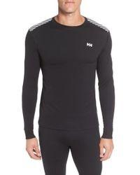 Helly Hansen - Black 'active Flow' Base Layer Long Sleeve T-shirt for Men - Lyst