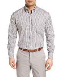 Peter Millar | Black Summertime Regular Fit Check Sport Shirt for Men | Lyst