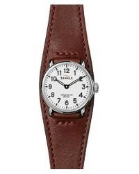 Shinola | Brown Runwell Leather Strap Watch for Men | Lyst