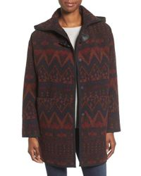 Kensie | Brown Teddy Duffle Coat | Lyst