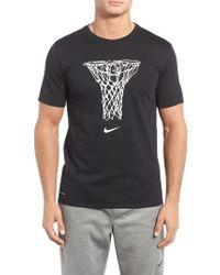 Nike   Black Dry Basketball Graphic T-shirt for Men   Lyst