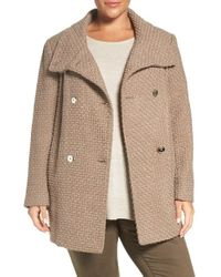 Calvin Klein | Natural Textured Trench Coat | Lyst