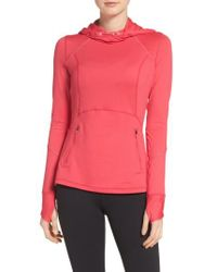 Zella | Pink Run Free Hooded Pullover | Lyst
