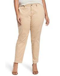 Sejour   Natural Stretch Cotton Ankle Pants   Lyst