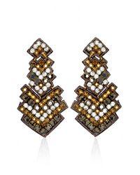 Suzanna Dai | Metallic 'zocalo' Large Drop Earrings | Lyst