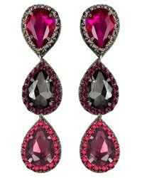 Suzanna Dai - Multicolor 'murano' Triple Drop Earrings - Lyst