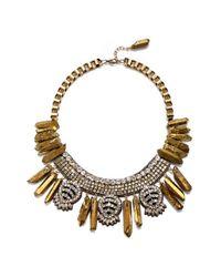 Suzanna Dai - Metallic 'sierra' Statement Necklace - Lyst