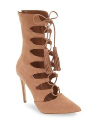 Steve Madden   Brown Piper Lace-up Bootie   Lyst