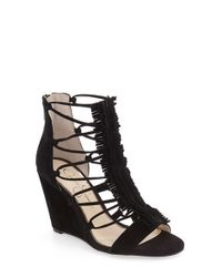 Jessica Simpson | Black 'beccy' Wedge Sandal | Lyst